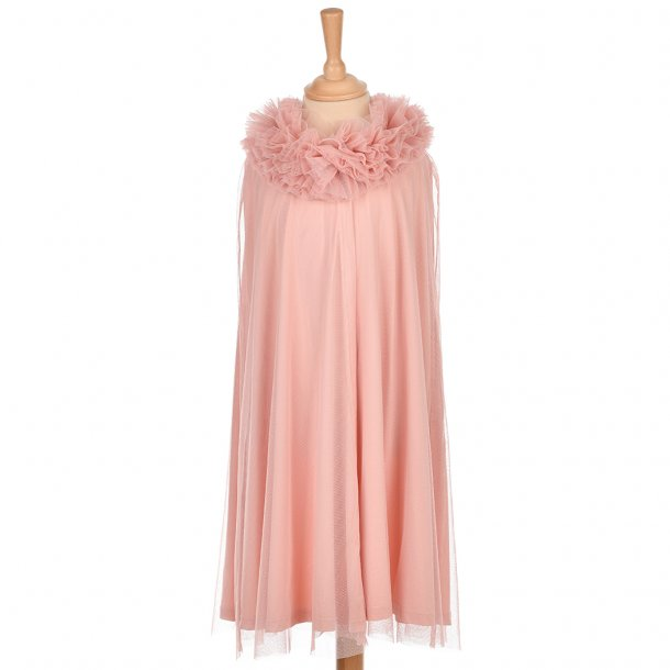 TULLE CAPE - DUSTY ROSE 3-5 YRS