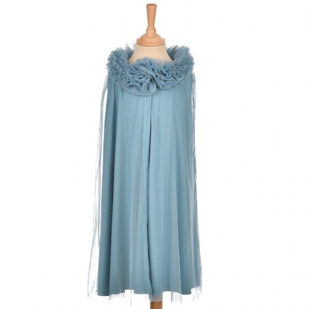 TULLE CAPE - PETROL 6-8 YRS