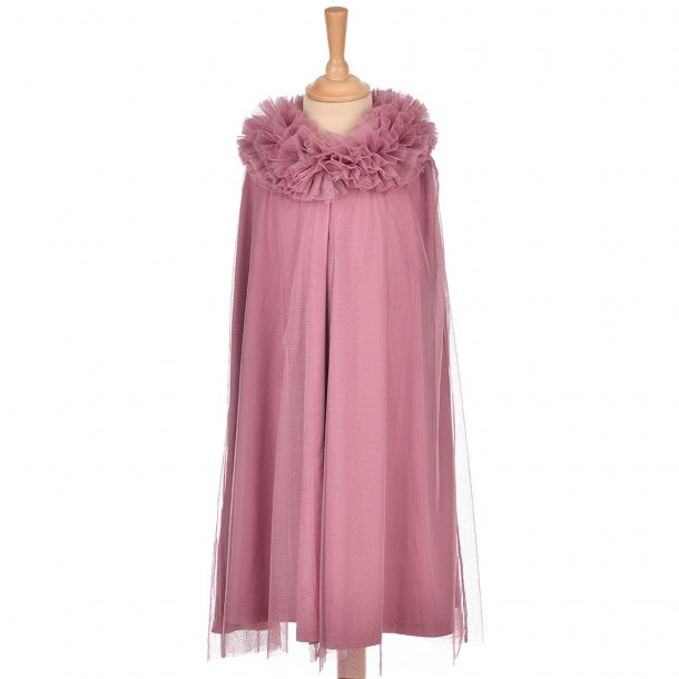 TULLE CAPE - PLUM 6-8 YRS