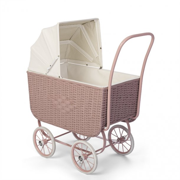 DOLL PRAM  - RETRO RATTAN ROSE