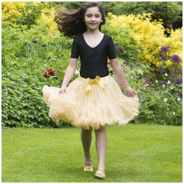 FROTHY TUTU SKIRT, GOLD