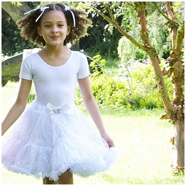 FROTHY TUTU SKIRT, SILVER